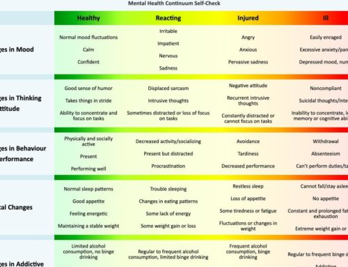 Caring For Your Team Mental Health Continuum